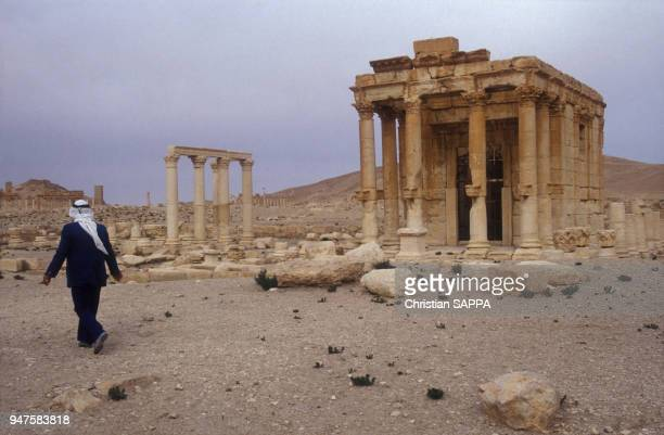 Le temple consacré au dieu phénicien Baal, dans la cité antique de Palmyre, en Syrie.