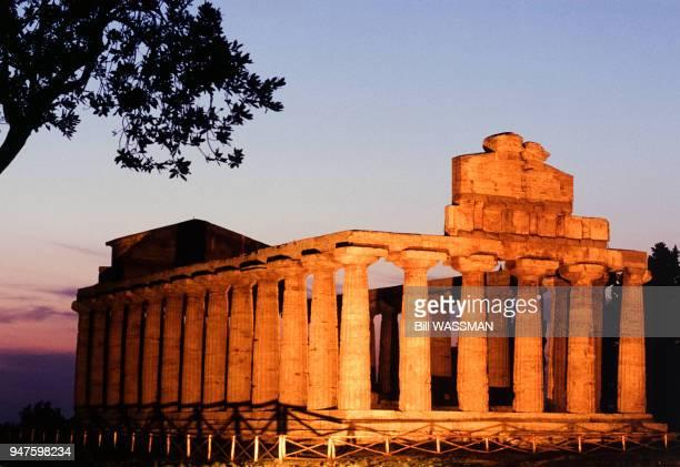 Le temple d'Athéna du site de Paestum Italie