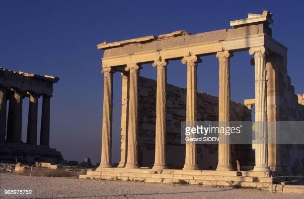 Le temple Erechthéion sur l'Acropole à Athènes Grèce le 21 septembre 1989