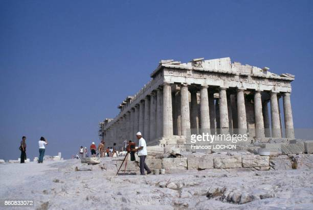 Le temple grec antique du Parthénon sur l'Acropole circa 1970 à Athènes Grèce