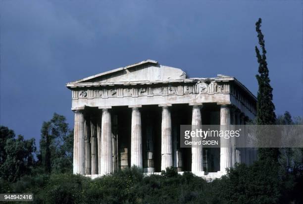 Le temple Héphaïstéon à Athènes en Grèce en mars 1987
