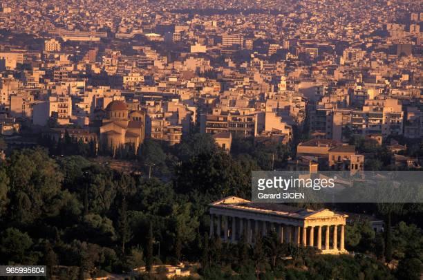 Le temple Héphaïstéon à Athènes en Grèce le 21 septembre 1989