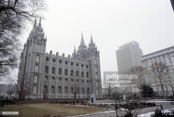 Le Temple mormon en 1981 à Salt Lake City aux ÉtatsUnis