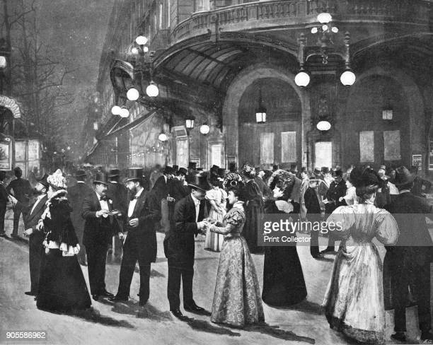 'Le Theatré Du Vaudeville Pendant L'Entr'acte' 1900 The Theatre du Vaudeville was a theatre in Paris It opened on 12 January 1792 on rue de Chartres...