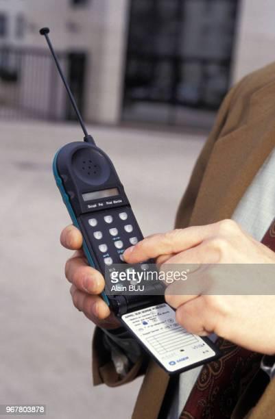 Le téléphone portable Bebop le 17 janvier 1992 en France
