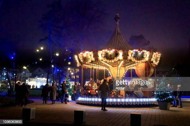 Le Touquet-Paris-Plage : merry-go-round on the occasion of the Holiday Season.