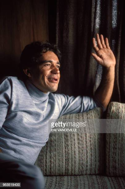 Le trafiquant de cocaine Carlos Lehder en 1986 en Colombie C'est l'un des caids du cartel de Medellin dirigé par Pablo Escobar Arrêté il fut extradé...