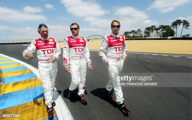 'UN SIECLE DE SPORT AUTOMOBILE DES 24 HEURES EN RENOUVEAU' Le trio de pilotes de course aux 12 victoires lItalien Dindo Capello le Danois Tom...