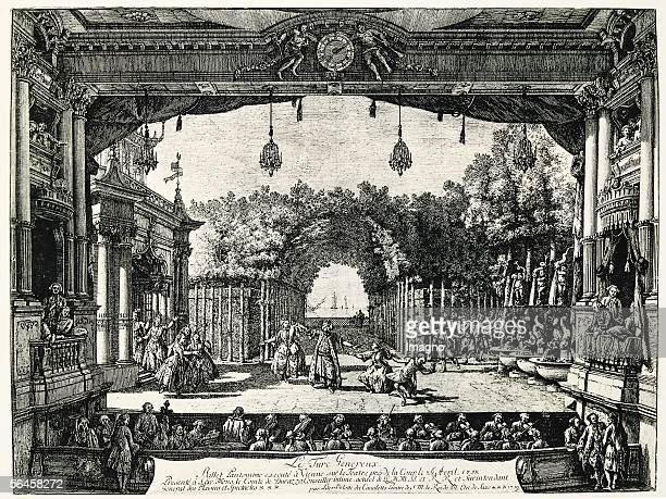 'Le Turc Genereux' pantomime ballet in the 'Hofburgtheater' in Vienna on the 26th of April 1758 By Bernardo Bellotto called Canaletto ['Le Turc...