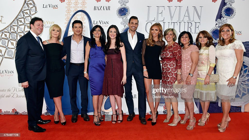 Le Vian CEO Eddie LeVian, Harper's Bazaar Executive Beauty and Fashion Editor Avril Graham, television personality Mario Lopez, Miranda LeVian, Lexy LeVian, Bill Rancic, television personality Giuliana Rancic, Liz LeVian, Suzy LeVian, Angela LeVian and Elizabeth LeVian attend the Le Vian 2016 Red Carpet Revue at the Mandalay Bay Convention Center on May 31, 2015 in Las Vegas, Nevada.