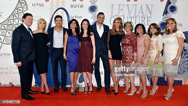 Le Vian CEO Eddie LeVian Harper's Bazaar Executive Beauty and Fashion Editor Avril Graham television personality Mario Lopez Miranda LeVian Lexy...