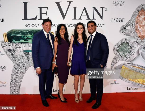 Le Vian CEO Eddie LeVian Miranda LeVian Lexy LeVian and Jonathan LeVian attend the Le Vian 2018 Red Carpet Revue at the Mandalay Bay Convention...