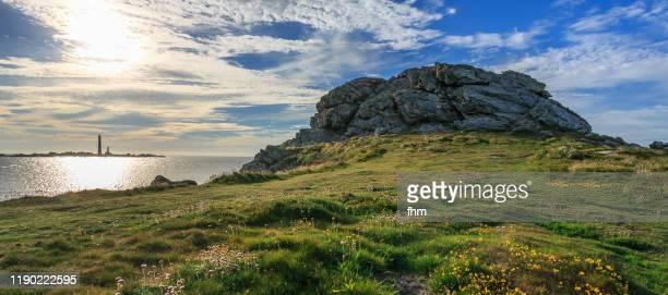 île vierge lighthouse (brittany/ france) - littoral photos et images de collection