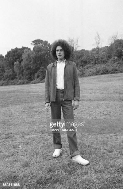 Le violoniste Angelo Branduardi à Rome le 23 septembre 1979 Italie