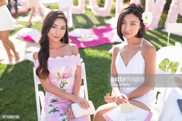 Lea and Jemma Seo attend the Bodvar House Of Roses Celebrates Official National Rose Day at Marina Del Rey Hotel on June 9 2018 in Marina del Rey...