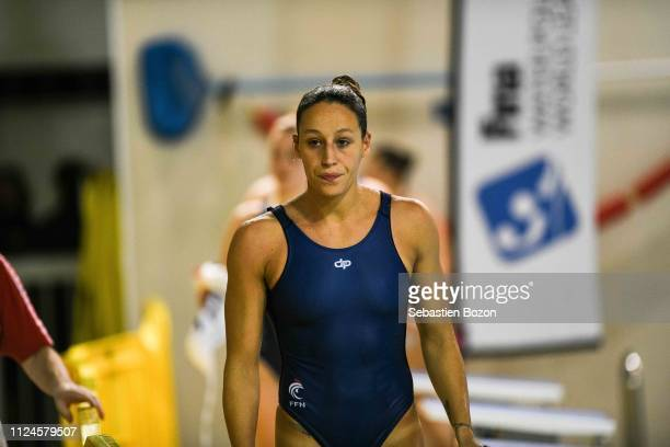 Lea Bachelier of France during the Women's International Match Water Polo match between France and Italy on February 12 2019 in Mulhouse France