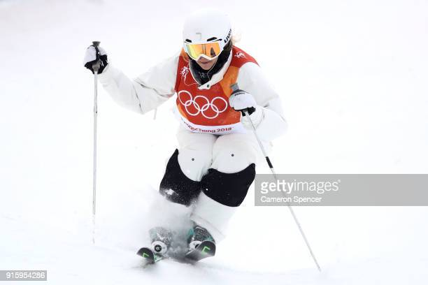 Lea Bouard of Germany competes during the Ladies' Freestyle Skiing Moguls qualification ahead of the PyeongChang 2018 Winter Olympic Games at Phoenix...