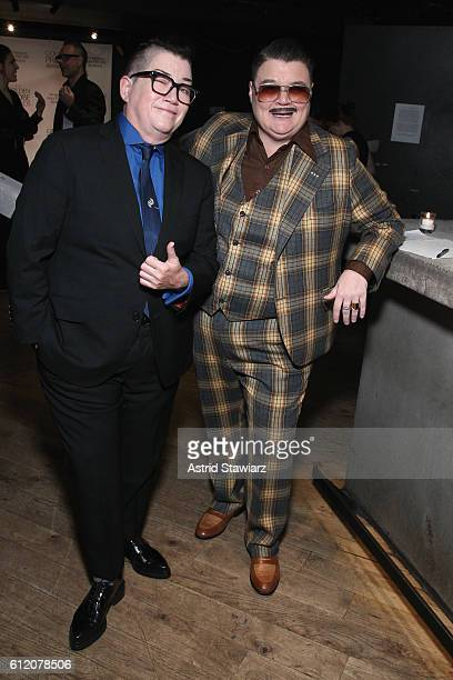 Lea DeLaria and Murray Hill attend The Golden Probe Awards 2016 at Le Poisson Rouge on October 2 2016 in New York City