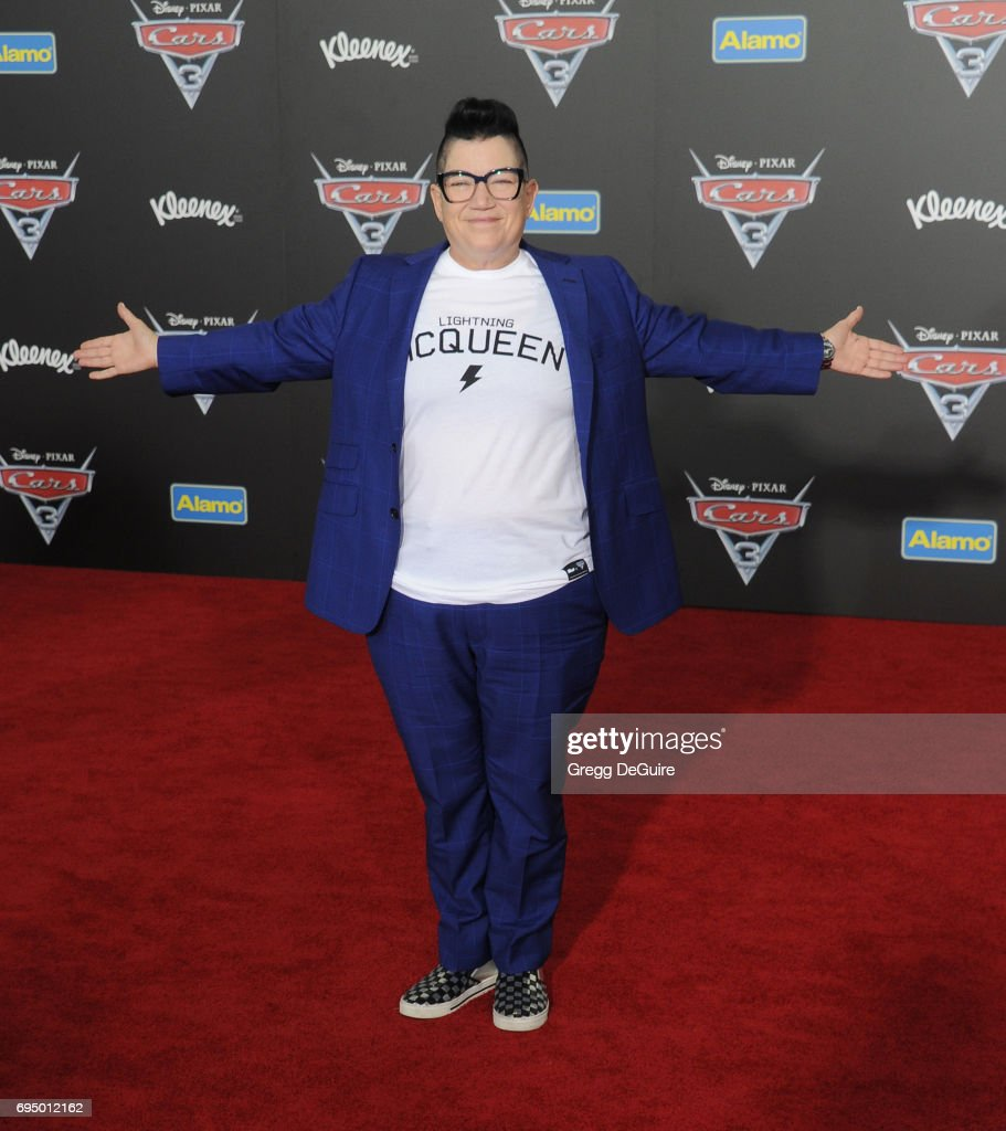 Lea DeLaria arrives at the premiere of Disney And Pixar's 'Cars 3' at Anaheim Convention Center on June 10, 2017 in Anaheim, California.