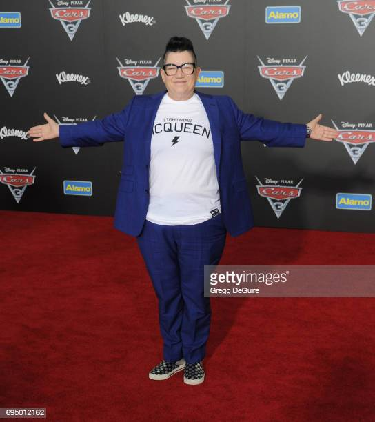 Lea DeLaria arrives at the premiere of Disney And Pixar's 'Cars 3' at Anaheim Convention Center on June 10 2017 in Anaheim California