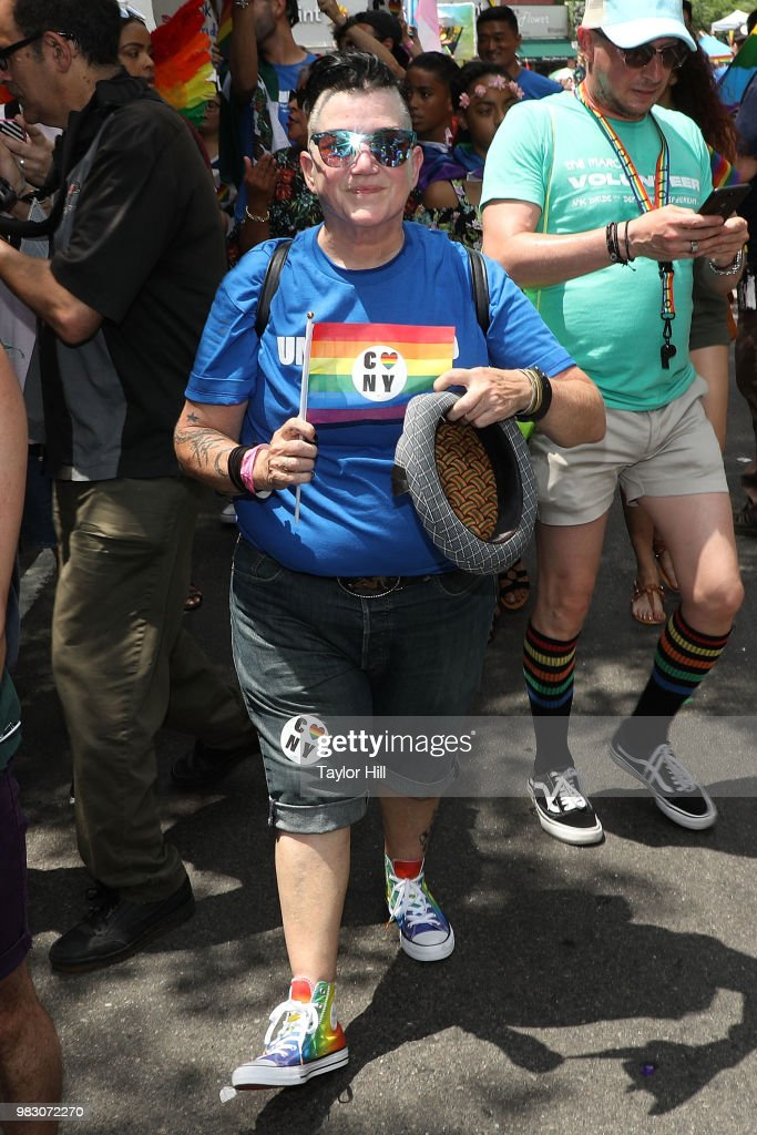 Lea DeLaria attends the 2018 NYC Pride March on June 24, 2018 in New York City.