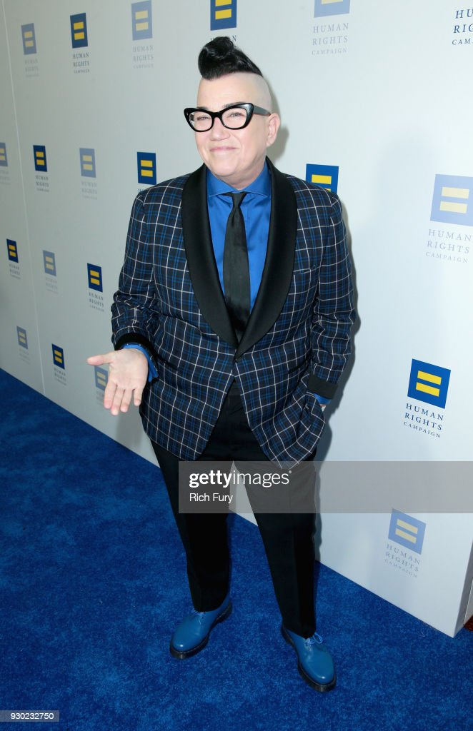 Lea DeLaria attends The Human Rights Campaign 2018 Los Angeles Gala Dinner at JW Marriott Los Angeles at L.A. LIVE on March 10, 2018 in Los Angeles, California. (Photo by Rich Fury/Getty Images for Human Rights Campaign (HRC))