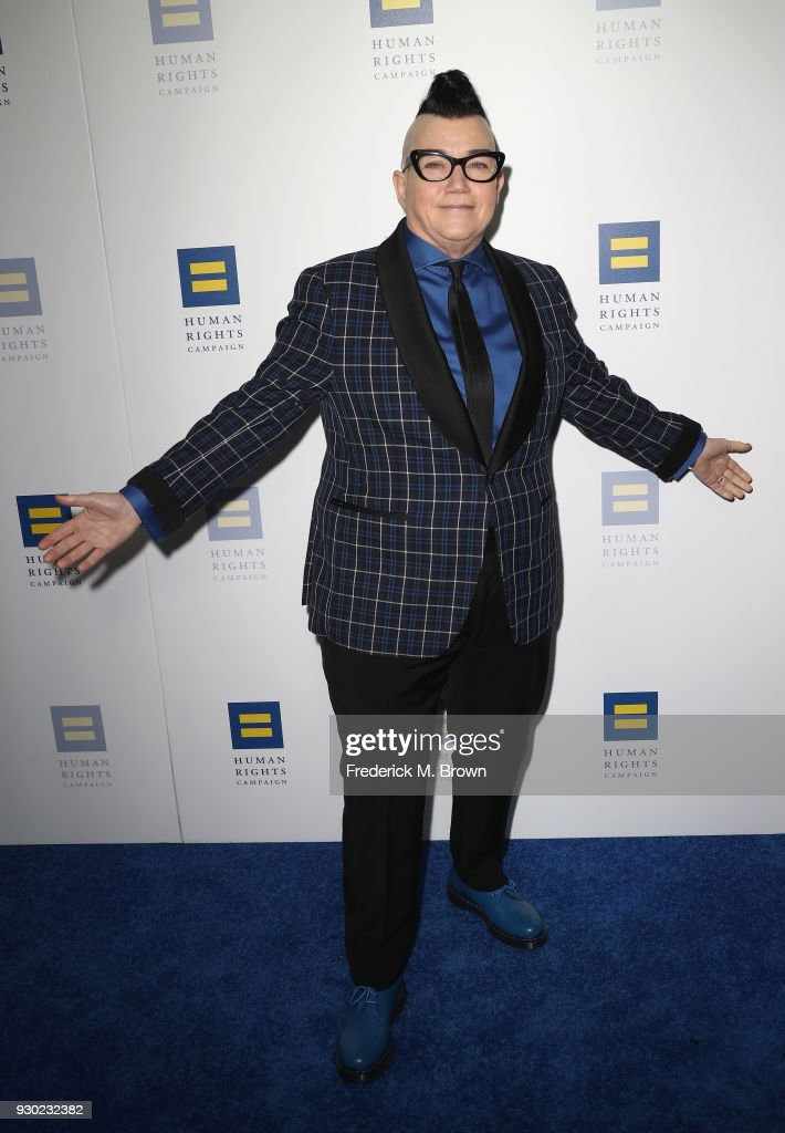 Lea DeLaria attends the Human Rights Campaign's 2018 Los Angeles Gala Dinner at JW Marriott Los Angeles at L.A. LIVE on March 10, 2018 in Los Angeles, California.