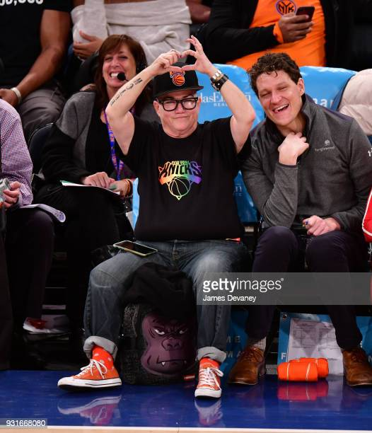 Lea Delaria attends the New York Knicks Vs Dallas Mavericks game at Madison Square Garden on March 13 2018 in New York City