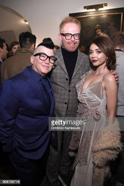 Lea DeLaria Jesse Tyler Ferguson and Sarah Hyland attend Entertainment Weekly's Screen Actors Guild Award Nominees Celebration sponsored by...