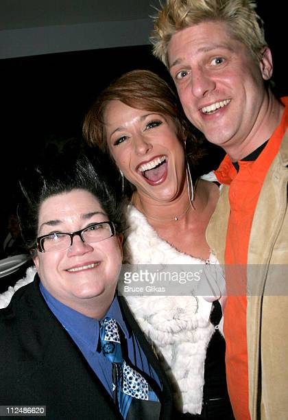 Lea Delaria Paige Davis and Christopher Sieber of SPAMalot