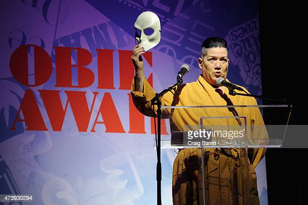 Lea DeLaria speaks on stage during the 60th annual Obie awards on May 18, 2015 in New York City.