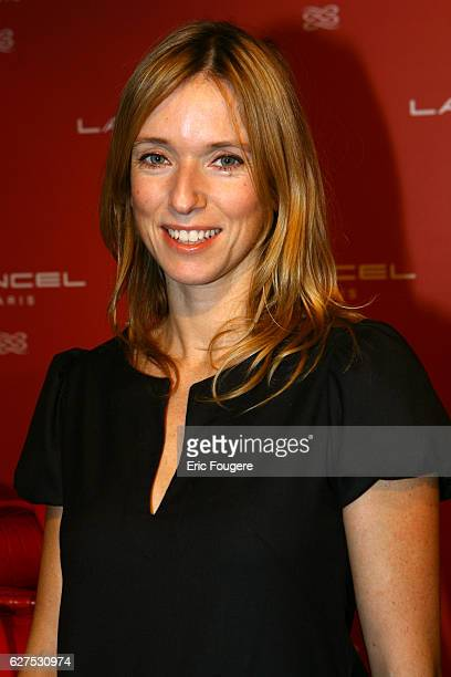 Lea Drucker at the Lancel Red Party held at the Olympia in Paris