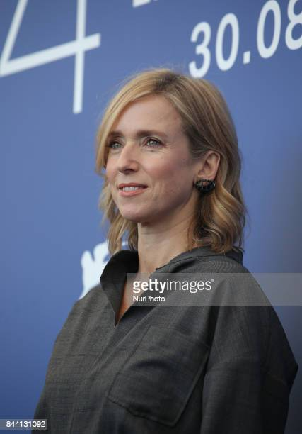 Lea Drucker attends the photocall of the movie 'Jusqu' la Garde' presented in competition at the 74th Venice Film Festival