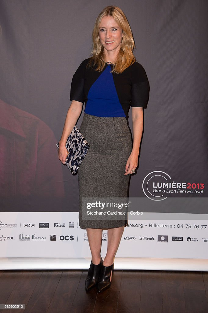 Lea Drucker attends the Tribute to Quentin Tarantino, during the 5th Lumiere Film Festival, in Lyon.