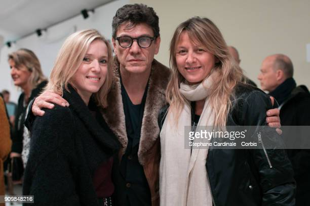 Lea Drucker Marc and Sarah Lavoine attend the Bonpoint Winter 2018 show as part of Paris Fashion Week January 24 2018 in Paris France