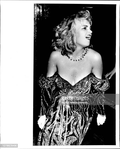 Lea Fitzgerald Sister of Designer Stephen Fitzgerald wearing Engineering Marvel By her Brother June 09 1987