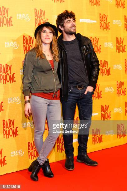Lea Francois and Agustin Galiana during the Baby Phone Paris Premiere at Cinema UGC Normandie on February 20 2017 in Paris France