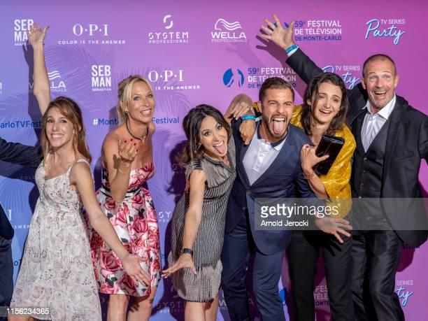 Lea Francois Rebecca Hampton Fabienne Carat and Marwan Berreni at the 59th Monte Carlo TV Festival TV Series Party on June 15 2019 in MonteCarlo...