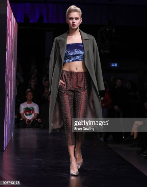 Lea Huppertz walks the runway during the Maybelline Show 'Urban Catwalk Faces of New York' at Vollgutlager on January 18 2018 in Berlin Germany