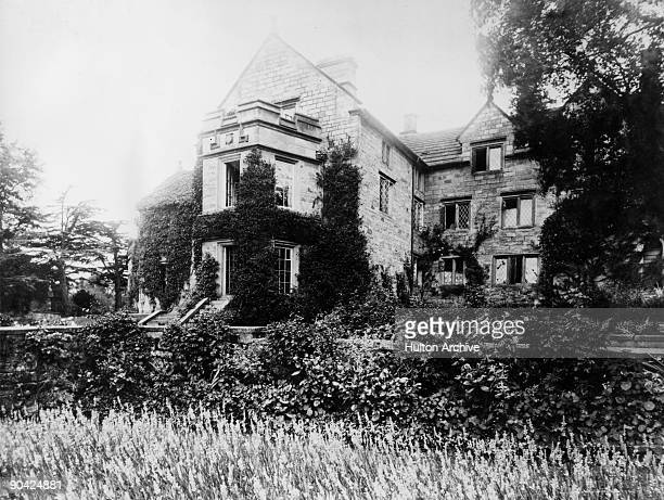 Lea Hurst in Derbyshire, the country manor on the estate of William Edward Nightingale , circa 1865. Nightingale was the father of nurse and medical...