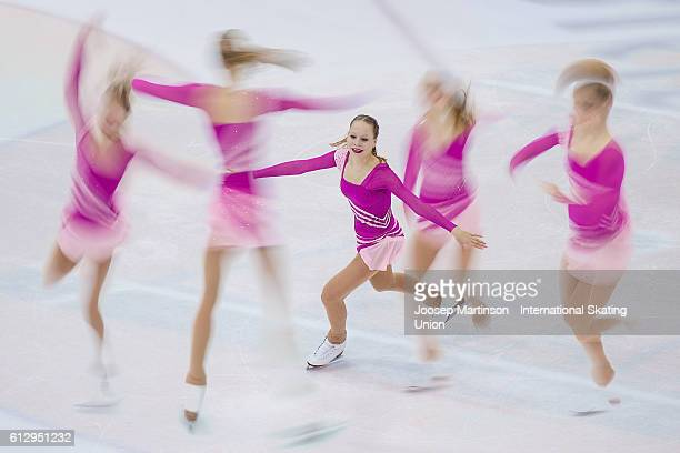 Lea Johanna Dastich of Germany competes during the Junior Ladies Short Program on day one of the ISU Junior Grand Prix of Figure Skating on October 6...