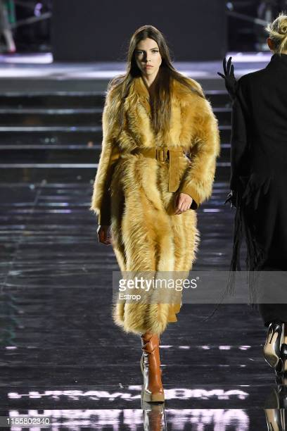Lea Julian walks the CR Runway x LuisaViaRoma at Piazzale Michelangelo during the Pitti Immagine Uomo 96 on June 13 2019 in Florence Italy