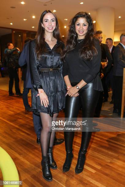 Lea Krichely and Ankita Makwana during the preview of the TV film 'Saat des Terrors' on November 14 2018 in Berlin Germany