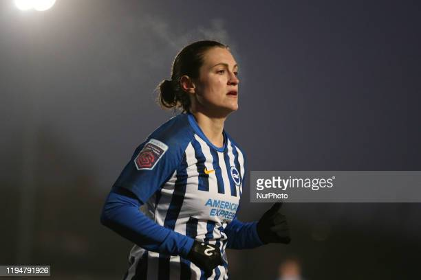 Lea Le Garrec of Brighton and Hove Albion Women during the Barclays FA Women's Super League match between West Ham United and Brighton and Hove...