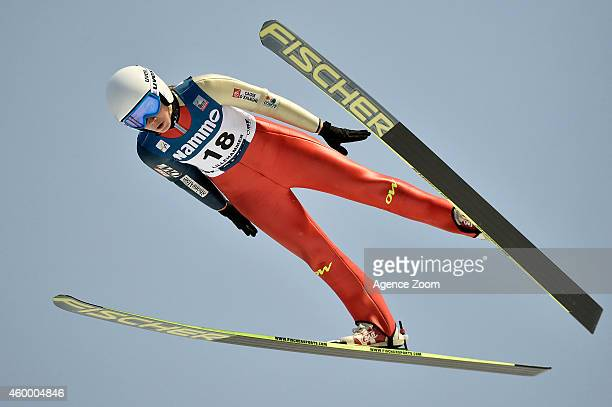 Lea Lemare of France competes during the FIS Ski Jumping World Cup Women's HS100 on December 05 2014 in Lillehammer Norway