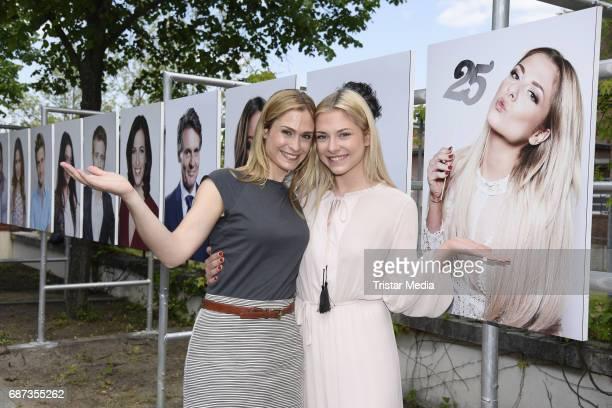 Lea Marlen Woitack and Valentina Pahde pose during the portrait exhibition to celebrate 25th anniversary of tv series 'Gute Zeiten, schlechte Zeiten'...
