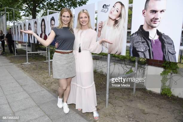 Lea Marlen Woitack and Valentina Pahde pose during the portrait exhibition to celebrate 25th anniversary of tv series 'Gute Zeiten schlechte Zeiten'...