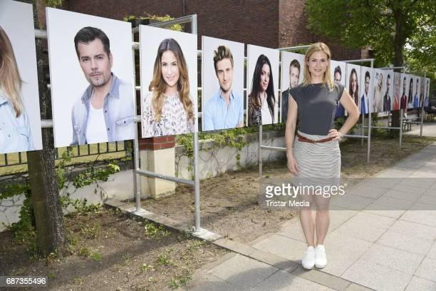 Lea Marlen Woitack poses during the portrait exhibition to celebrate 25th anniversary of tv series 'Gute Zeiten schlechte Zeiten' at Filmpark...
