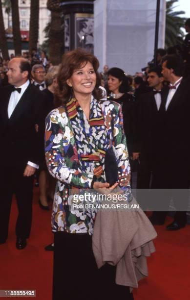 Lea Massari lors du Festival de Cannes le 18 mai 1993 France