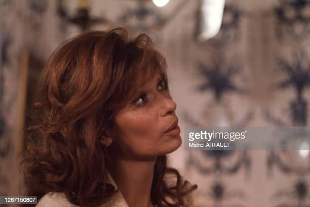 Lea Massari lors du tournage du film 'La Main à couper' en décembre 1973 en France.